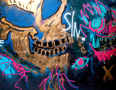 Peaky Blinders soundtrack: Jehnny Beth mural set design