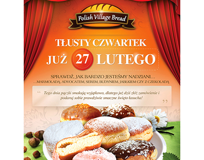 "Brand: Polish Village Bread Project: ""Tłusty czwartek"""