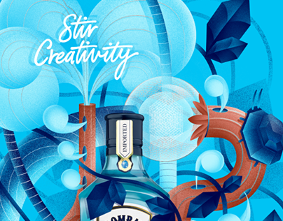 Bombay Sapphire's 'Stir Creativity' campaign submission
