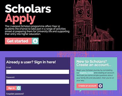 Scholars Apply web application