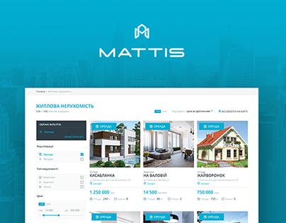 Mattis — full-responsive real estate website