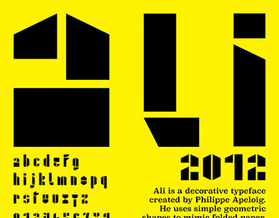 Typeface Design Poster