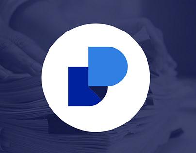 Dossier decentralized eportfolio app icon & Logo Design