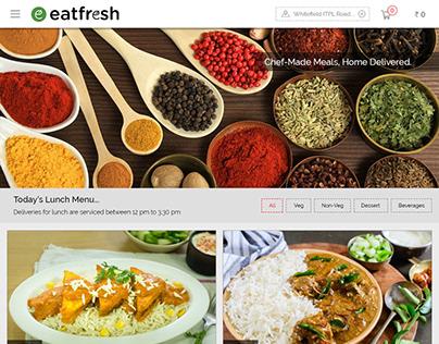 UX / UI - Online Food Delivery Portal