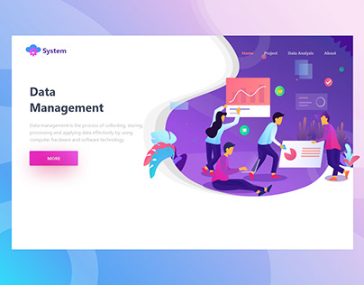 Data - Data Management Header Illustration