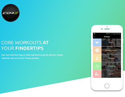 Core Workouts - Mobile App Design