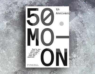 Apollo 11 - 50th Anniversary - POSTER