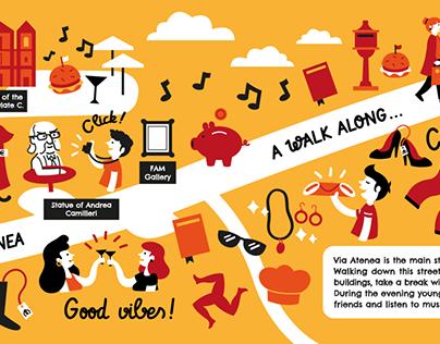 "Map ""A walk along Via Atenea"" - Agrigento"