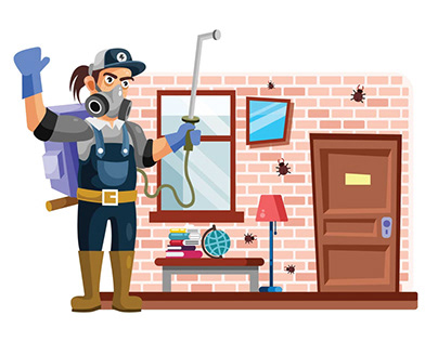 Pest Control Vector Illustration Free Download