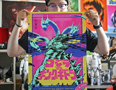 Godzilla vs King Ghidorah variant poster