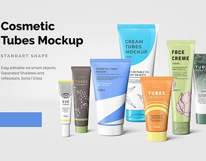 Cosmetic Tubes Mockup
