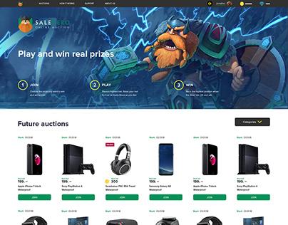 The auction site SALEHERO. Online auction salehero.com