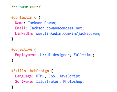 Resume in CSS