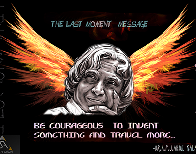 apj Abdul kalam-last moment speech-photoshop
