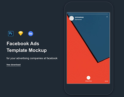 Facebook PSD and Sketch mobile mockups free download