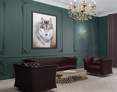 green interior room