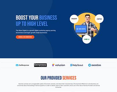 wave digital WordPress one page website