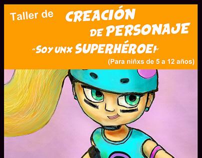 Workshop of Superheroes Character´s design for kids