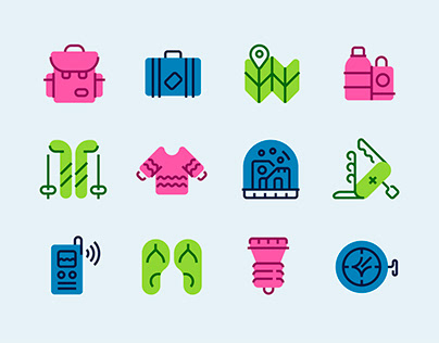 Pack it up! icon set