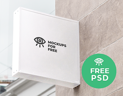 Signboard Mockup / Free PSD