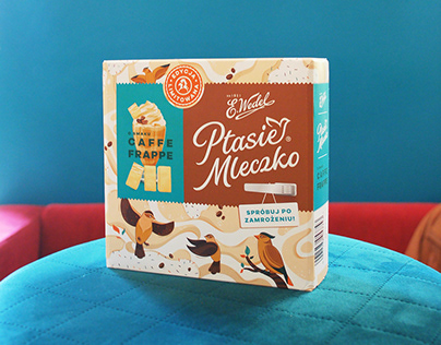 Ptasie Mleczko by Wedel - Package Illustration