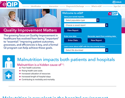 HCP Malnutrition Assessment Tool Site - Home Pg (WIP)