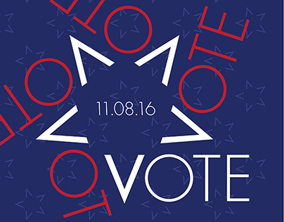 """AIGA """"Get Out the Vote"""" Poster"""