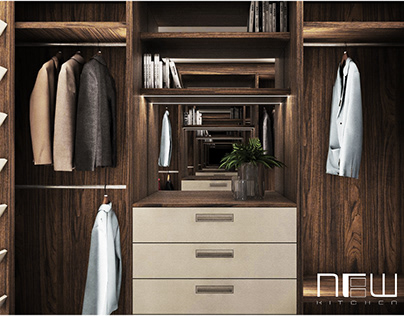 Legno and Cleaf RS-Line Walk-in Wardrobe