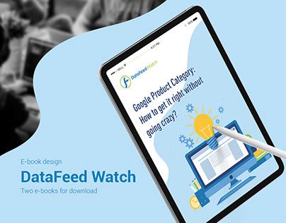 E-book design. DataFeed Watch two e-books.
