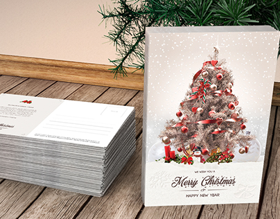 Greeting Christmas Card and Postcard