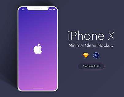 Apple iPhone X Minimal Mockup