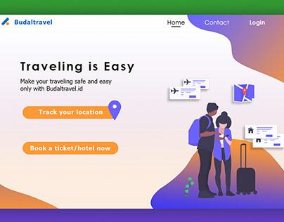 "User Intrerface Design Website ""Budaltravel.id"""