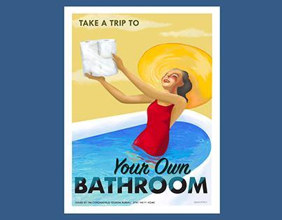 Coronavirus Tourism Bureau Poster Your Own Bathroom