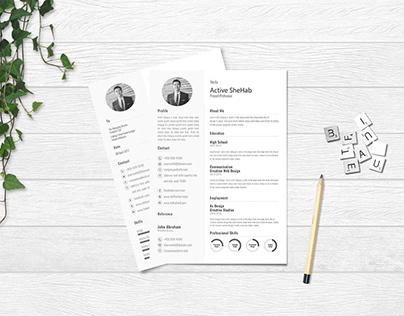 Free Simple Resume Design Template