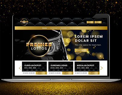 Premier Lottos Branding - Black and Gold