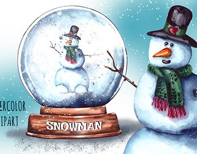 Snowglobe & Snowman