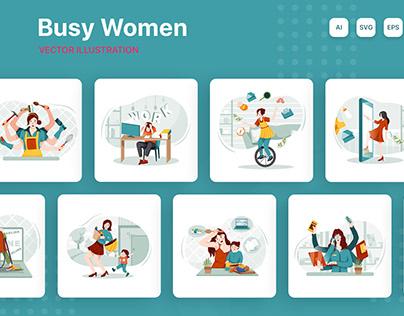 M210_Busy Women Scenes