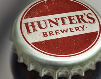Hunters Brewery branding & packaging design