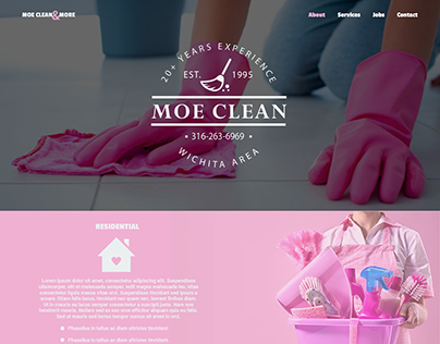 Moe Clean & More Web Design