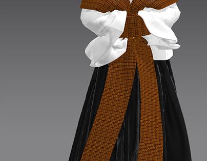 3D garment by me (for alexandratomiyama (blasian brand)