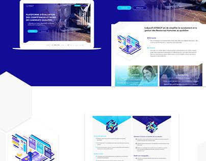 Logotype and UI design recruiting