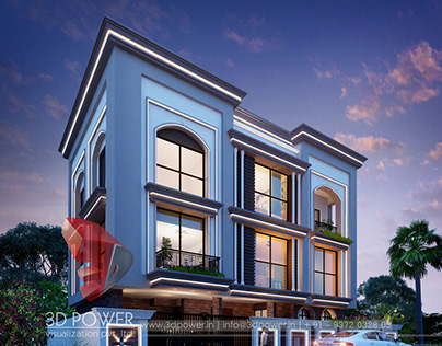 Bungalow design and rendering by 3d power