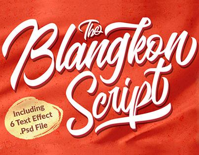 Free Blangkon Script Font