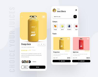 Fresh Fruit Juice App Design