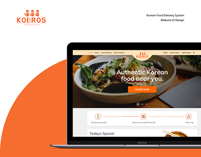 3Kobros - Korean Food Delivery Website Design