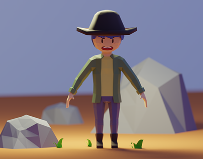 Low Poly 3D Character