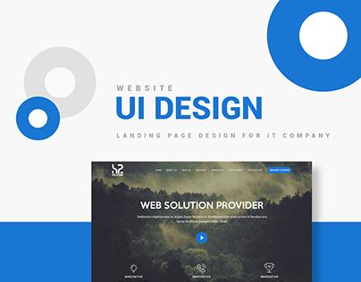 UI Design for Landing Page