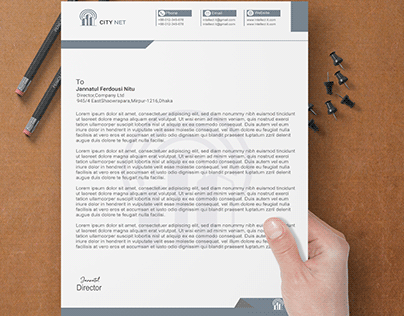 Letter head pad design