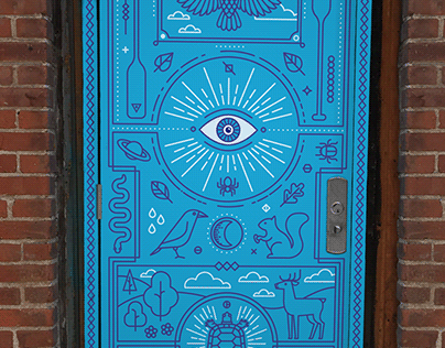 City of Regina Alley Door Artwork