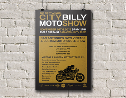 CityBilly Moto Show - Poster Mockup